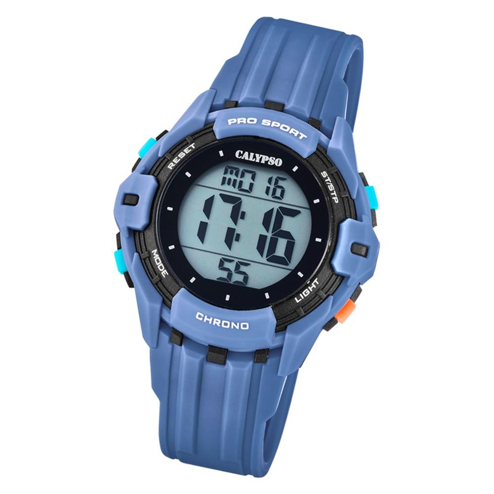 Calypso Kinder Armbanduhr Color Run K5740/1 Quarz-Uhr PU blau UK5740/1