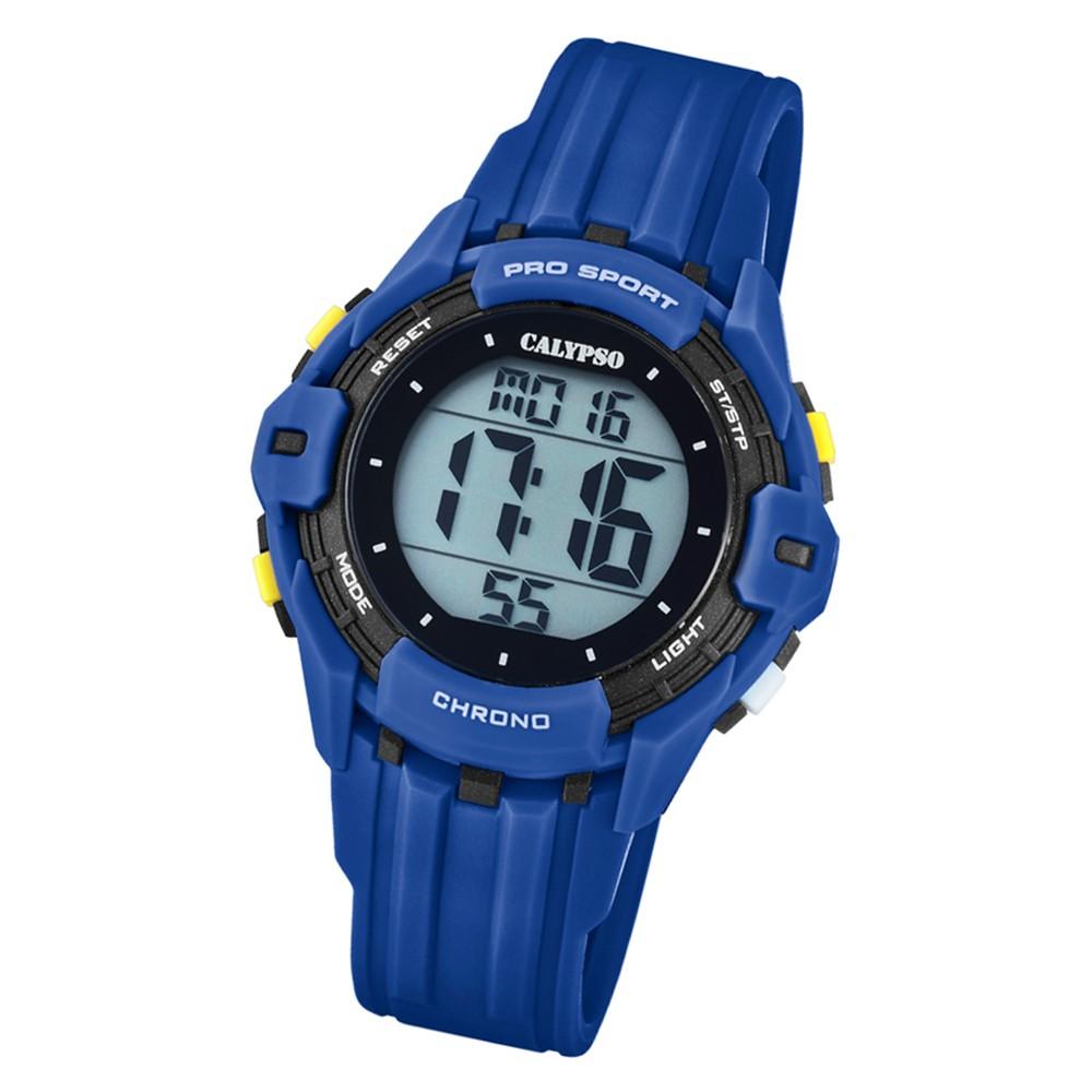 Calypso Kinder Armbanduhr Color Run K5740/4 Quarz-Uhr PU dunkelblau UK5740/4