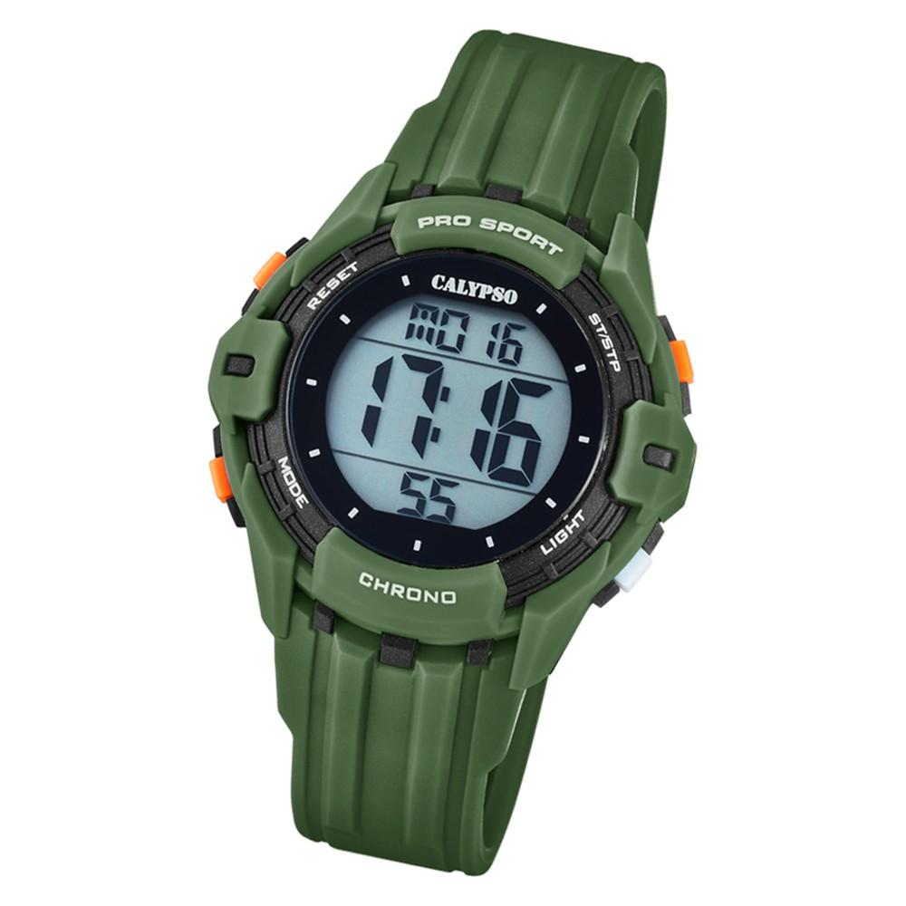 Calypso Kinder Armbanduhr Color Run K5740/5 Quarz-Uhr PU grün UK5740/5