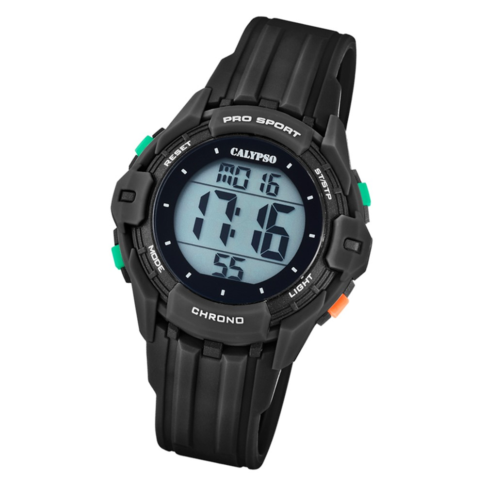 Calypso Kinder Armbanduhr Color Run K5740/6 Quarz-Uhr PU schwarz UK5740/6