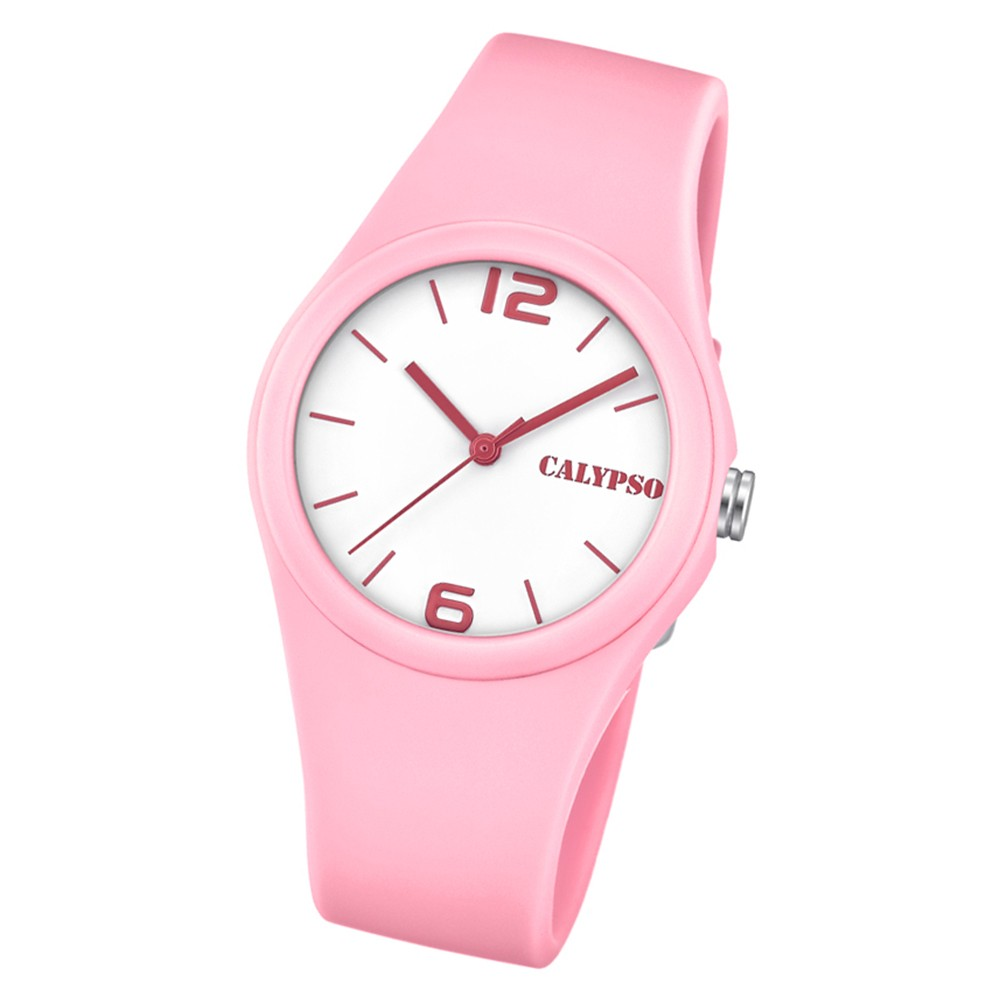 Calypso Damen Armbanduhr Sweet Time K5742/3 Quarz-Uhr PU hellrosa UK5742/3