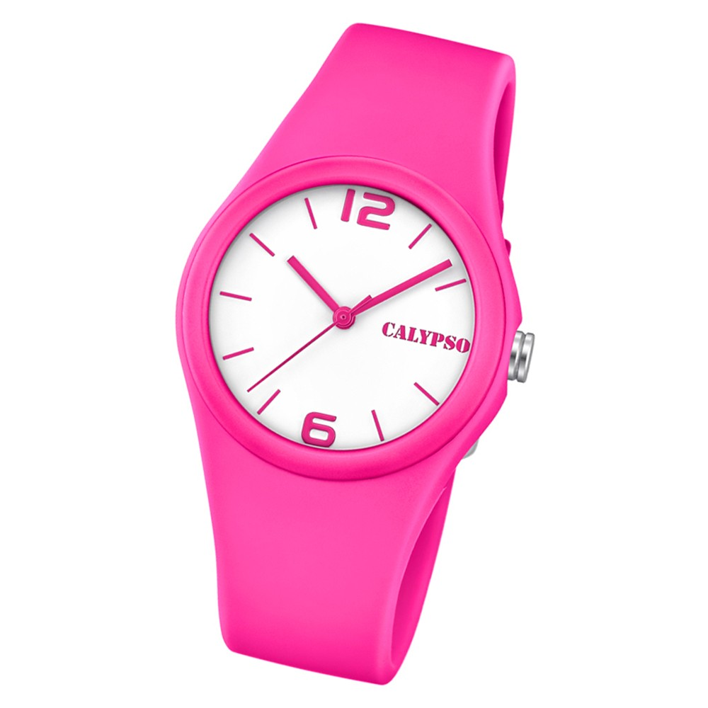 Calypso Damen Armbanduhr Sweet Time K5742/4 Quarz-Uhr PU rosa UK5742/4