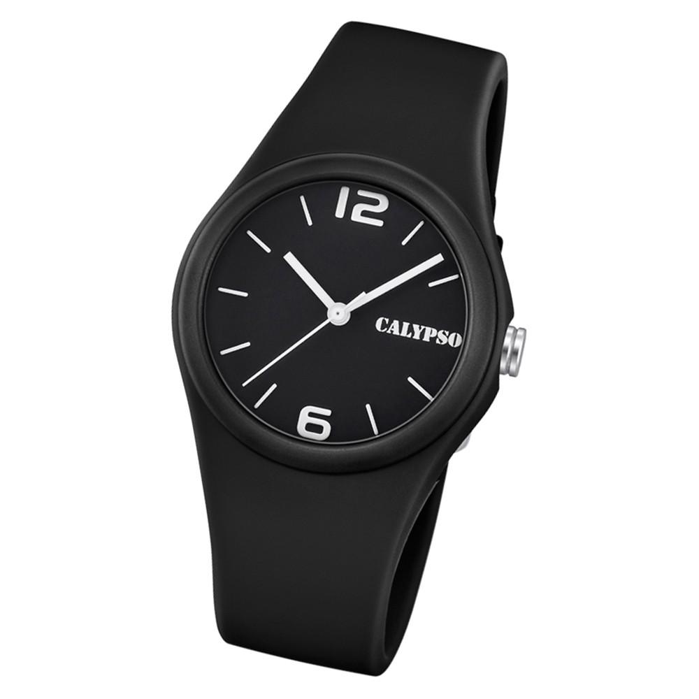 Calypso Damen Armbanduhr Sweet Time K5742/6 Quarz-Uhr PU schwarz UK5742/6