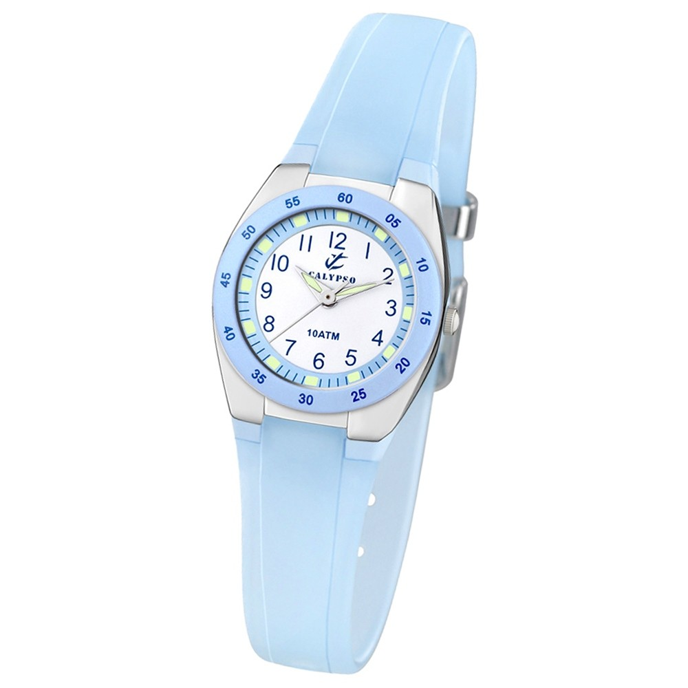 CALYPSO Damen-Armbanduhr Fashion analog Quarz-Uhr PU türkisblau UK6043/D