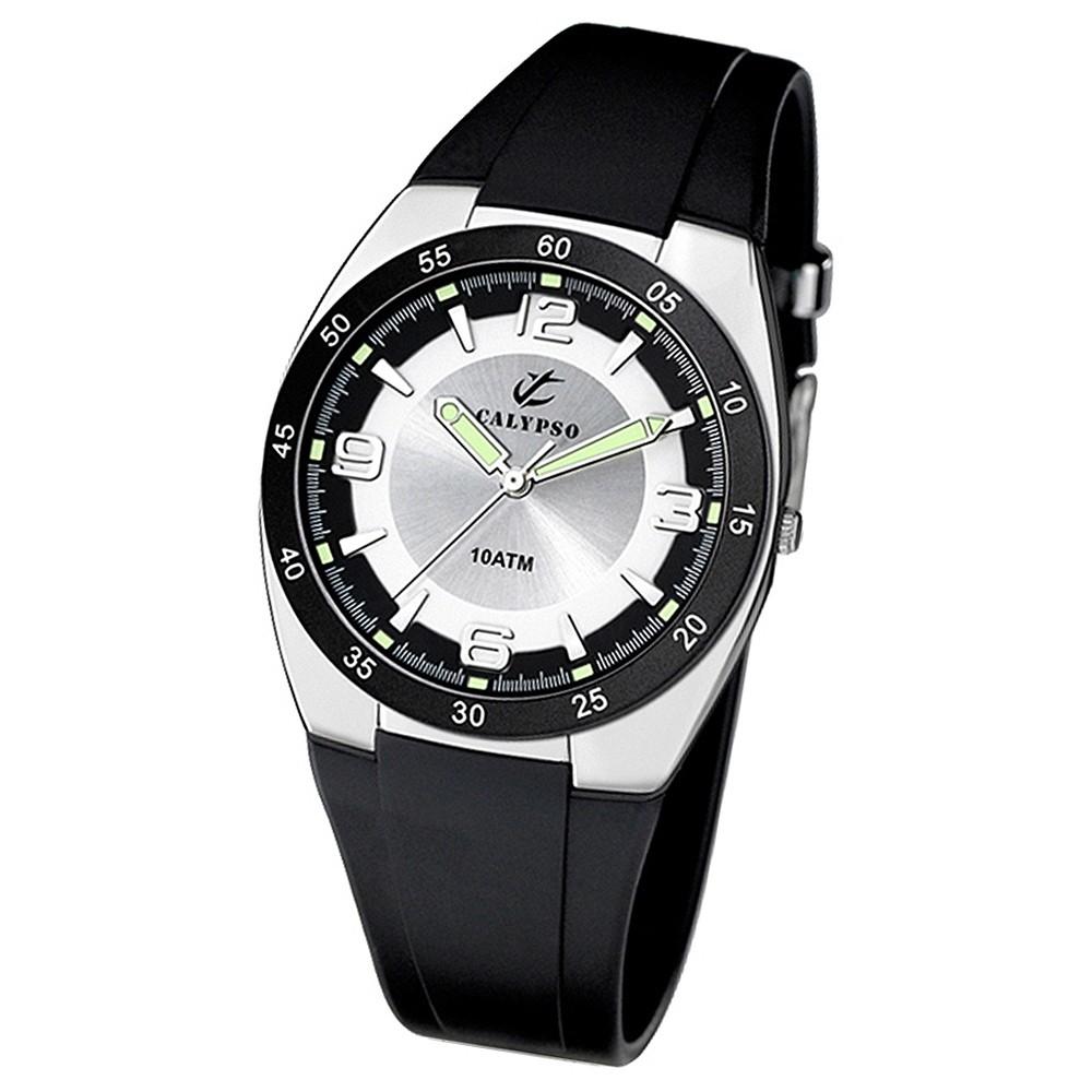 CALYPSO Herrenuhr schwarz-silber Analog Uhren Kollektion UK6044/3