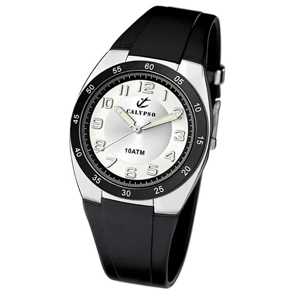 CALYPSO Herrenuhr schwarz-silber Analog Uhren Kollektion UK6044/C