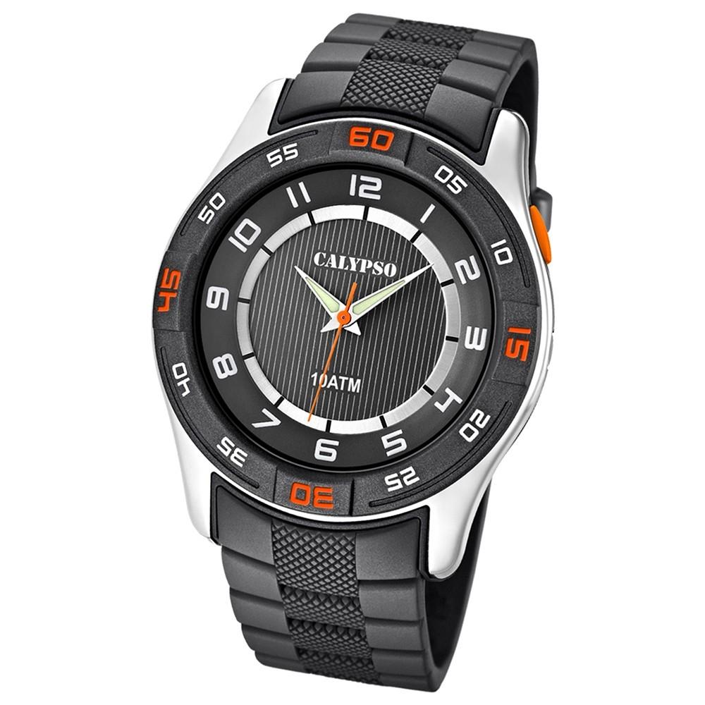 Calypso Herrenuhr schwarz-grau Analog Uhren Kollektion UK6062/1