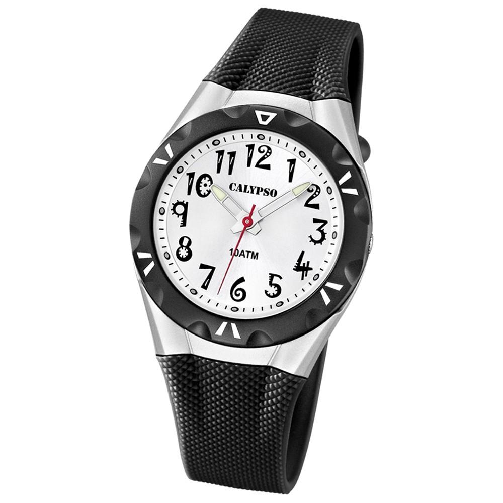 CALYPSO Damen-Armbanduhr Fashion analog Quarz-Uhr PU schwarz UK6064/2