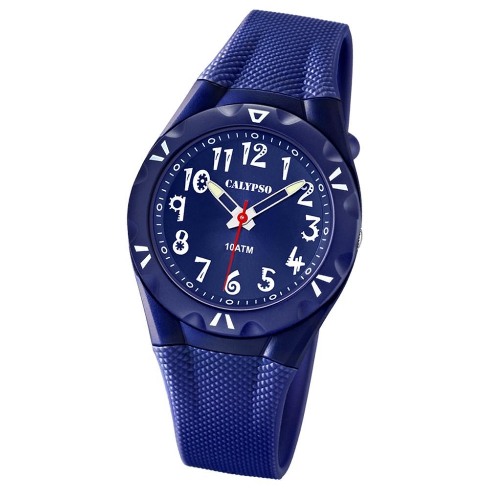 CALYPSO Damen-Armbanduhr Fashion analog Quarz-Uhr PU dunkelblau UK6064/3