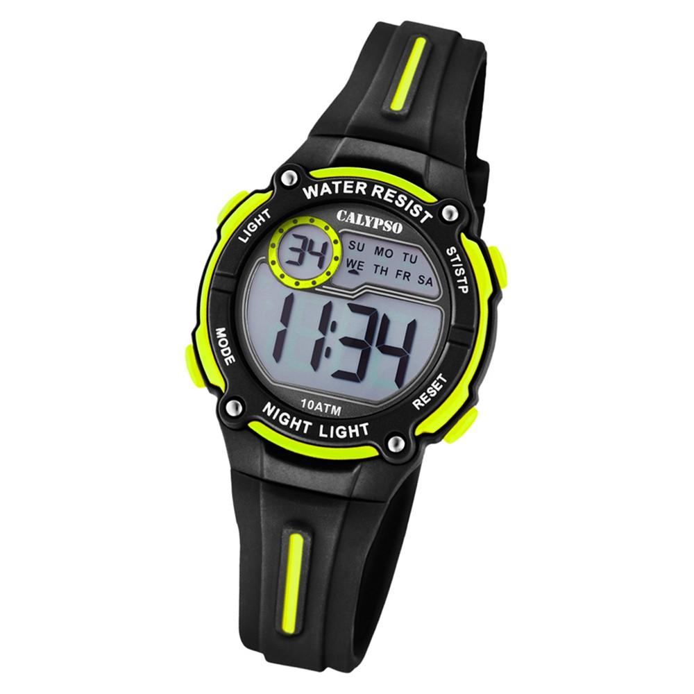 Calypso Kinder Armbanduhr Digital Crush K6068/5 Quarz PU schwarz UK6068/5
