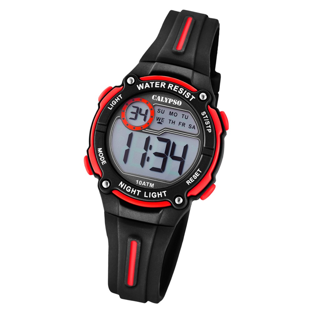 Calypso Kinder Armbanduhr Digital Crush K6068/6 Quarz PU schwarz UK6068/6