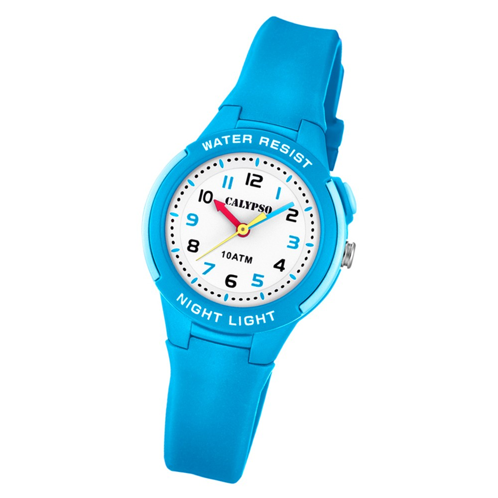 Calypso Kinder Armbanduhr Sweet Time K6069/2 Quarz-Uhr PU hellblau UK6069/2
