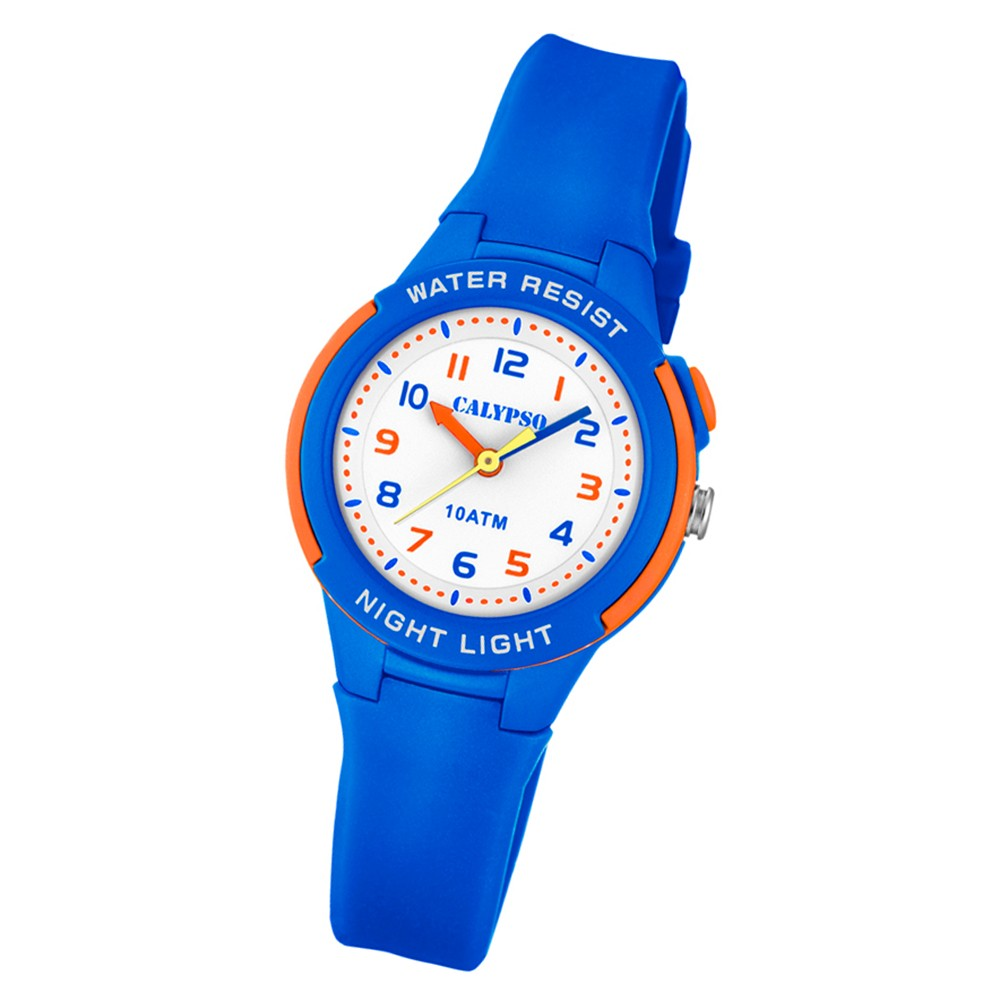 Calypso Kinder Armbanduhr Sweet Time K6069/3 Quarz-Uhr PU blau UK6069/3