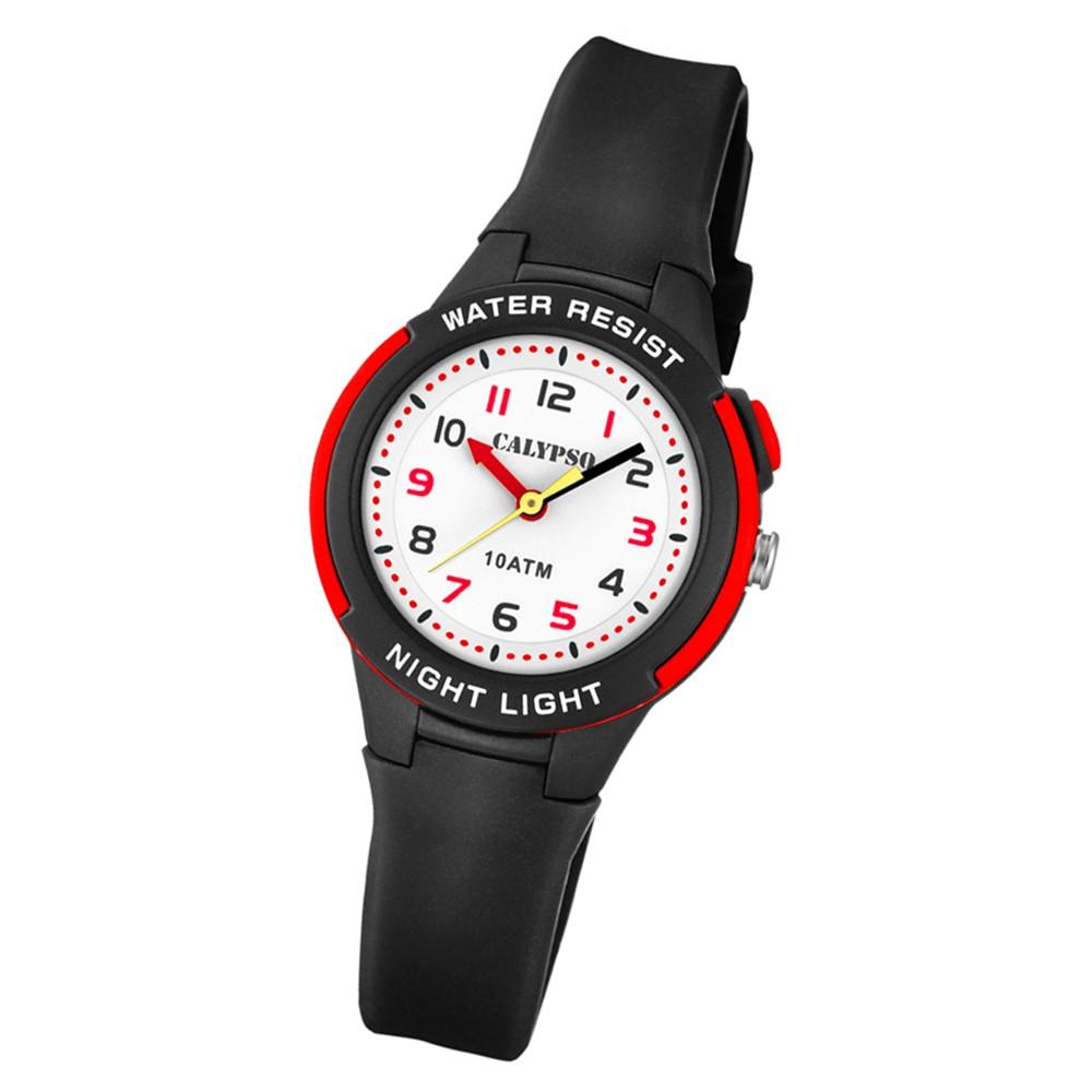 Calypso Kinder Armbanduhr Sweet Time K6069/6 Quarz-Uhr PU schwarz UK6069/6
