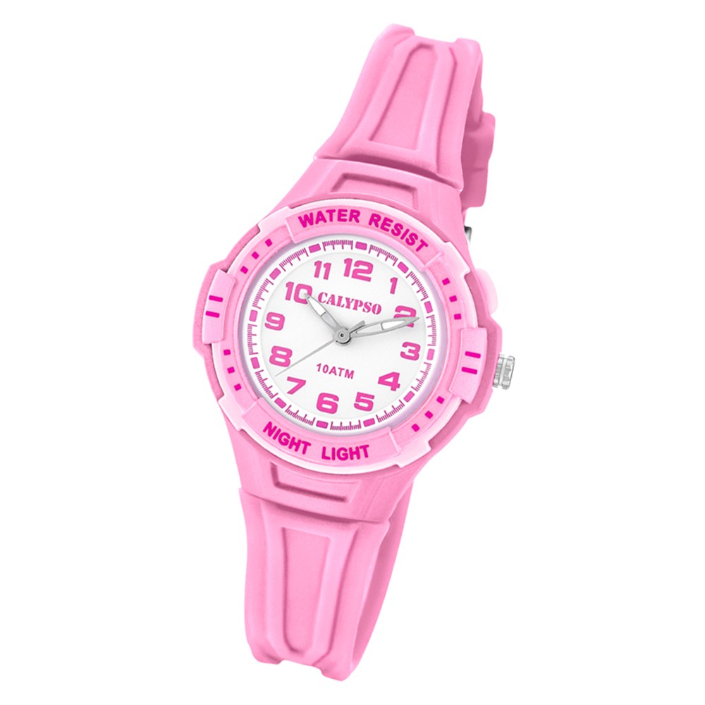 Calypso Kinder Armbanduhr Sweet Time K6070/1 Quarz-Uhr PU rosa UK6070/1