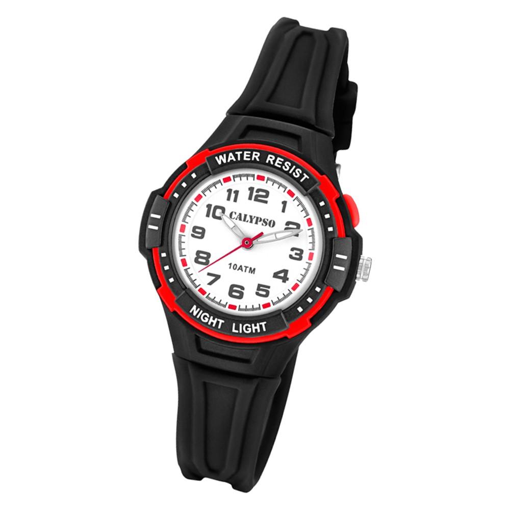 Calypso Kinder Armbanduhr Sweet Time K6070/6 Quarz-Uhr PU schwarz UK6070/6