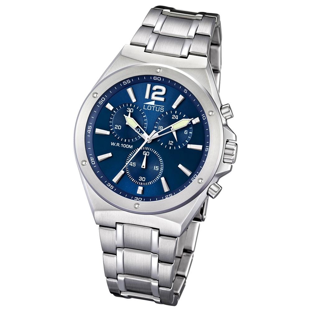 LOTUS Herrenuhr Chronograph blau Khrono Uhren Kollektion UL10118/3