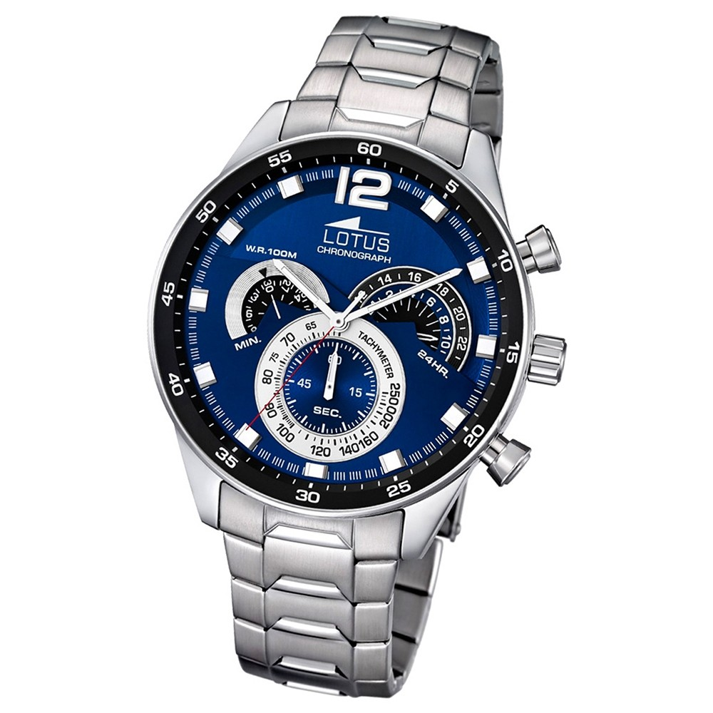 LOTUS Herren Chronograph Quarz Edelstahl Lotus Uhren Kollektion UL10120/2