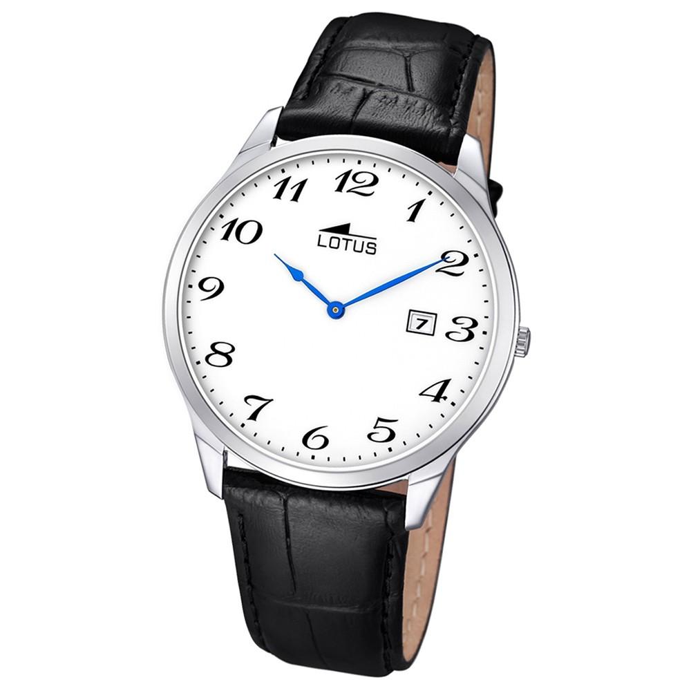 LOTUS Herren-Armbanduhr Analog Quarz Leder schwarz UL10124/1