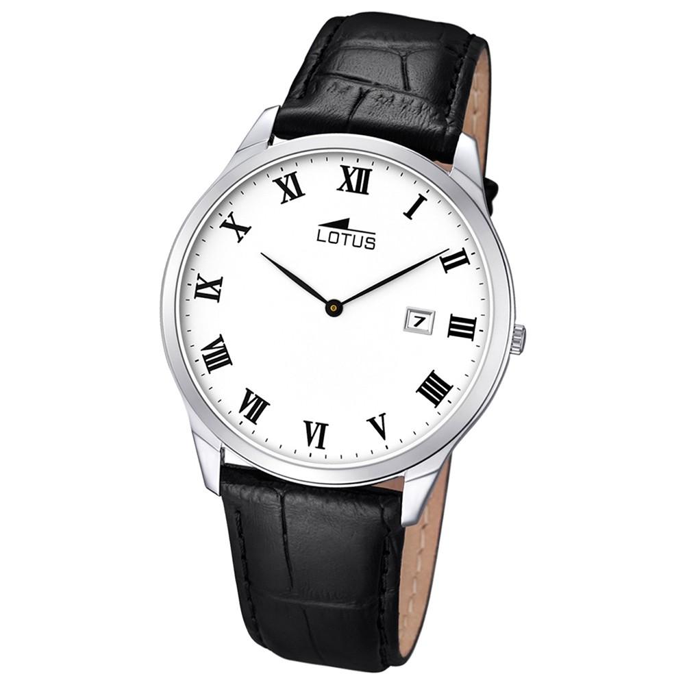 LOTUS Herren-Uhr - Lederband klassisch - Analog - Quarz - Leder - UL10124/3