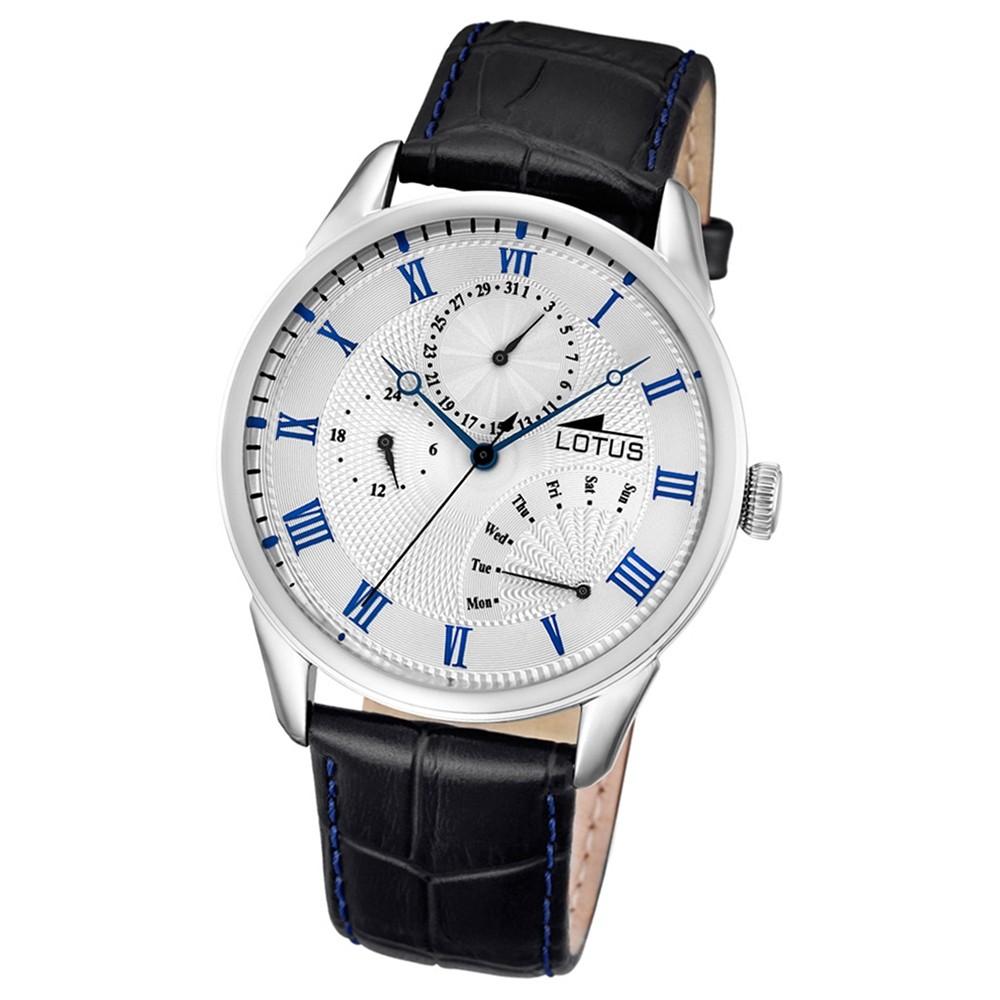 LOTUS Herren-Armbanduhr Multifunktion Analog Quarz-Uhr Leder schwarz UL10131/2
