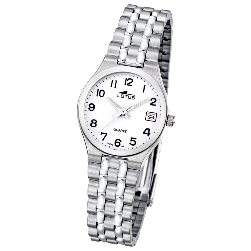 LOTUS Damenuhr klassisch Analog Quarz Uhr Edelstahl Armband silber UL15032/2