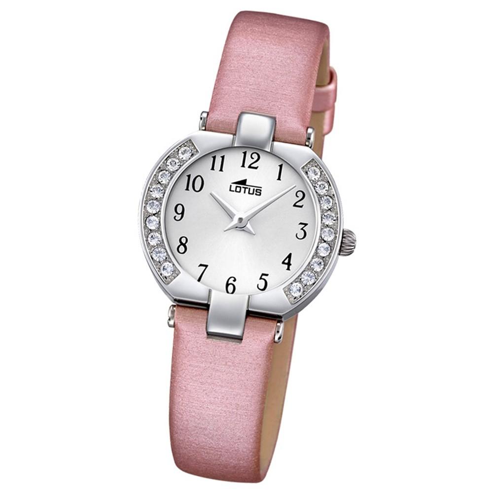 LOTUS Damen-Armbanduhr Junior Analog Quarz-Uhr Textil/Leder rosa UL15129/C