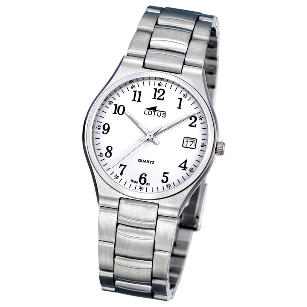 LOTUS Herren Damen-Uhr Stahlband klassisch Analog Quarz Edelstahl UL15192/2