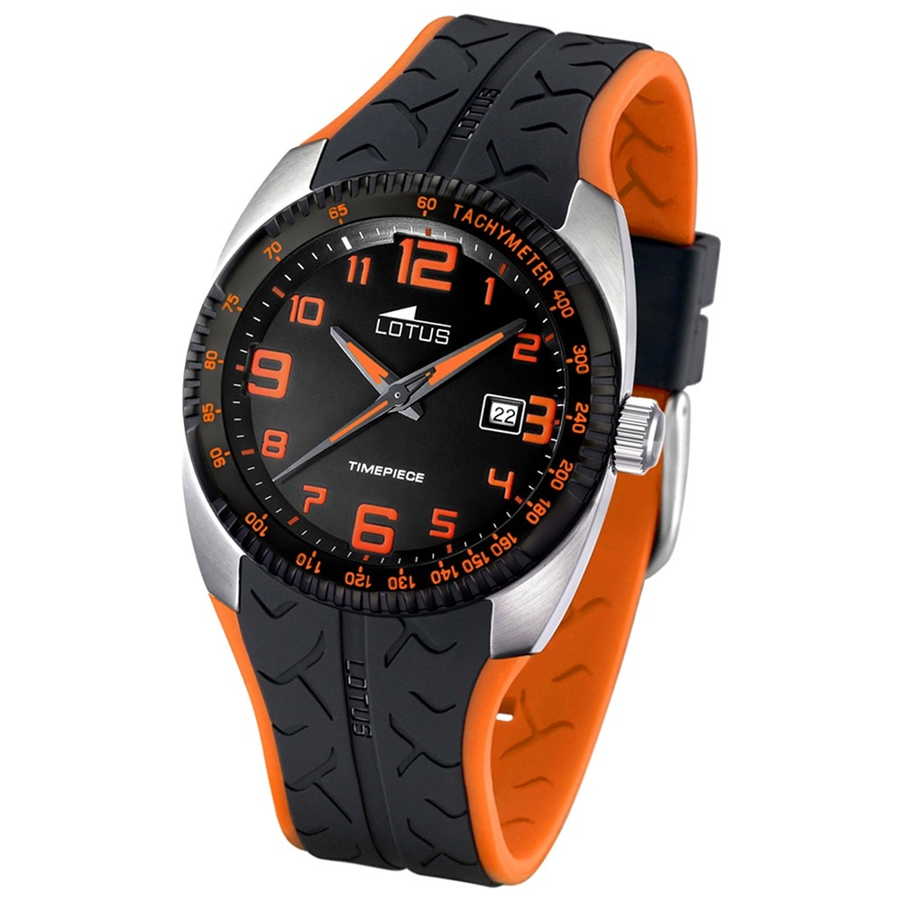 LOTUS Herrenuhr Sport schwarz-orange Uhren Kollektion UL15568/4