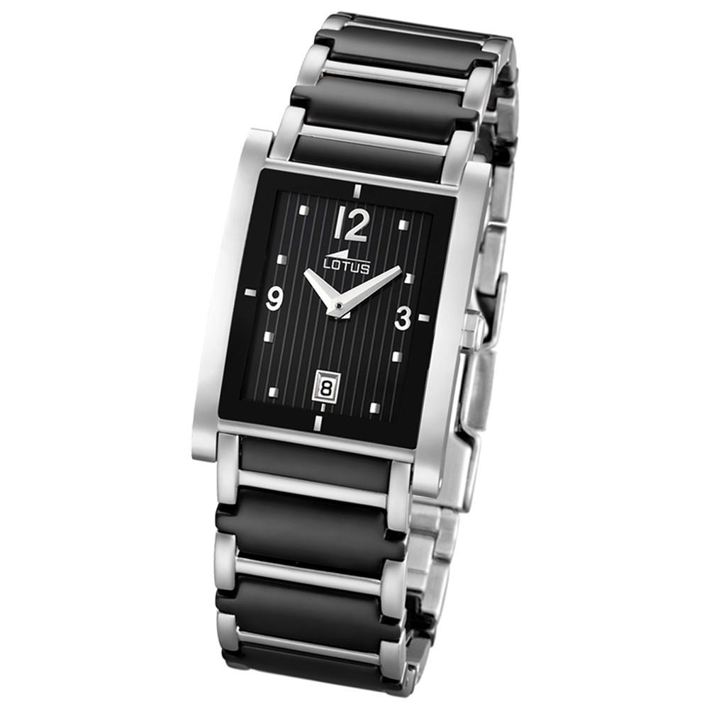 LOTUS Damen-Armbanduhr Ceramic analog Quarz Edelstahl, Keramik UL15585/3