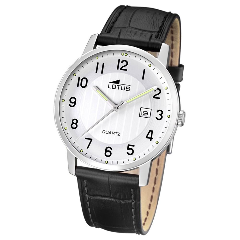 LOTUS Herren-Armbanduhr Analog Quarz Leder schwarz UL15620/1