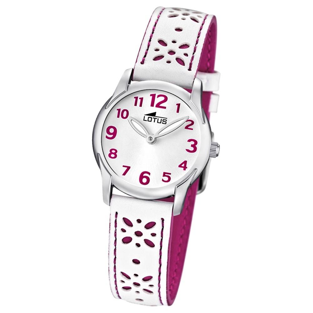 LOTUS Jugenduhr Comuniones Analog Quarz Uhr Leder Armband weiß UL15708/2