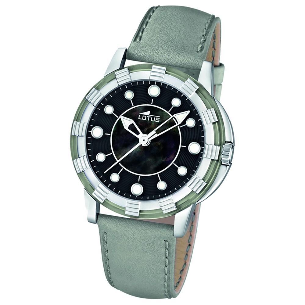 LOTUS Damenuhr Quarzuhr grau Glee Uhren Kollektion UL15747/8