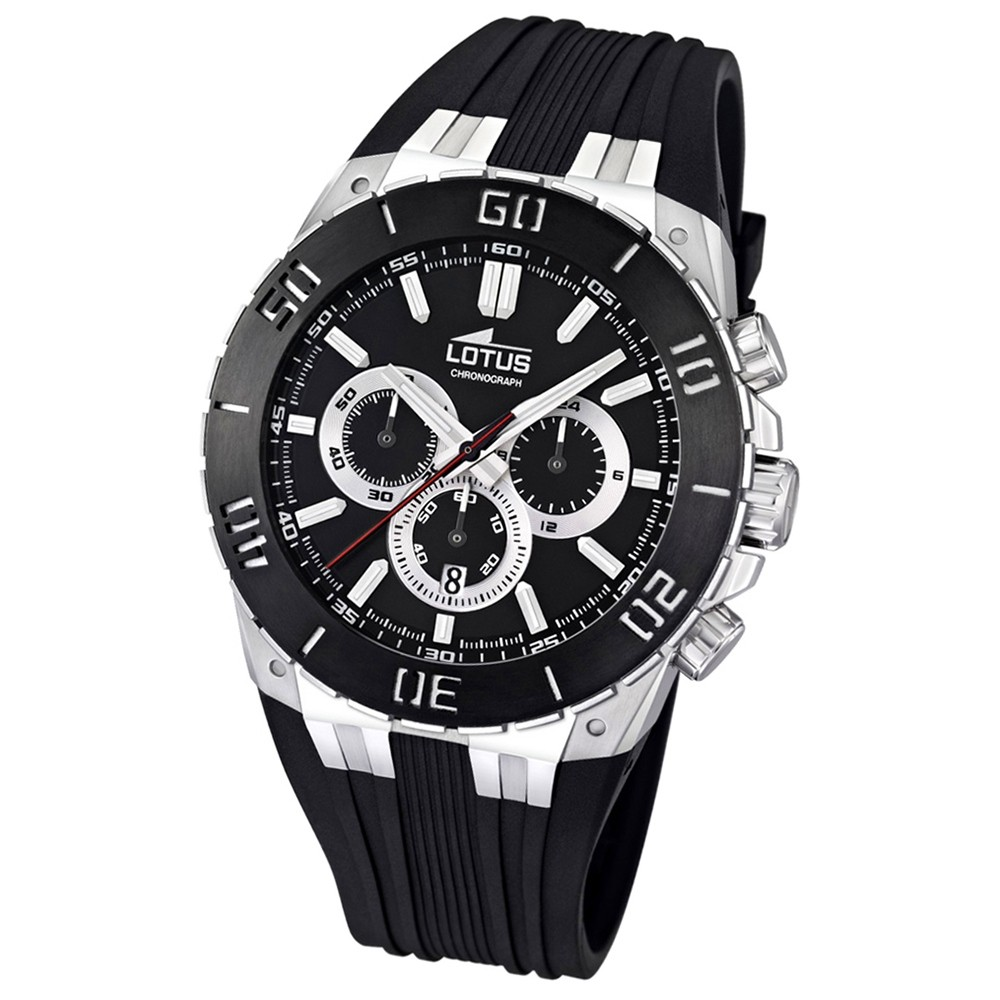 LOTUS Herren-Armbanduhr LOTUS R Chronograph Quarz Kautschuk UL15801/3