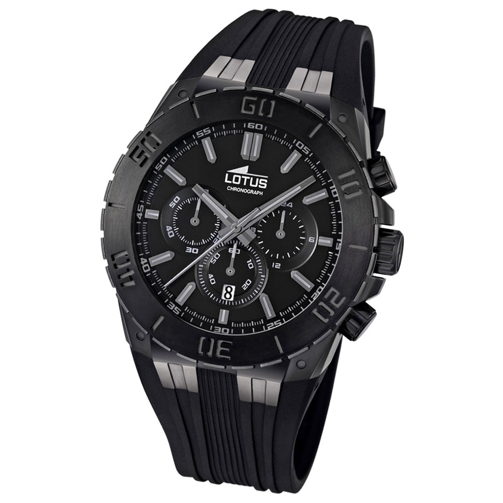 LOTUS Herren-Armbanduhr LOTUS R Chronograph Quarz Kautschuk UL15803/1