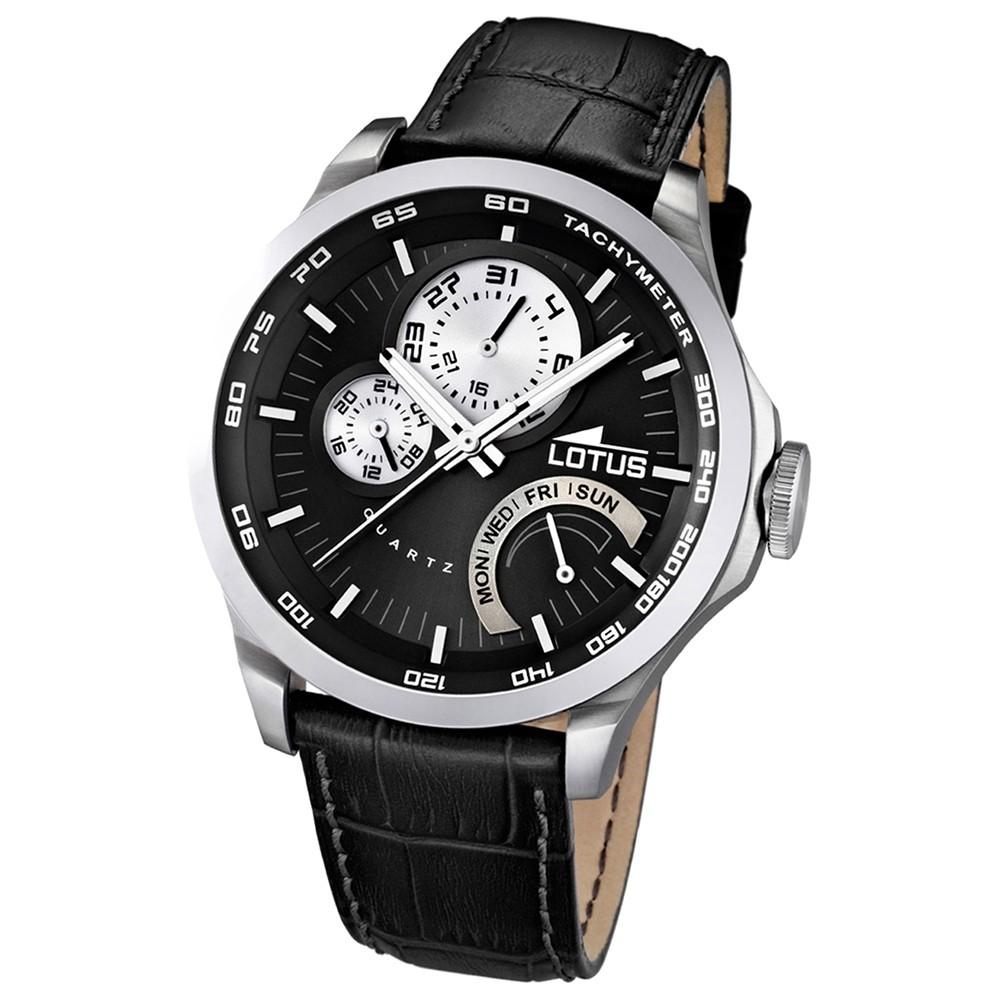 LOTUS Herrenuhr Multifunktion schwarz Sport Uhren Kollektion UL15846/4