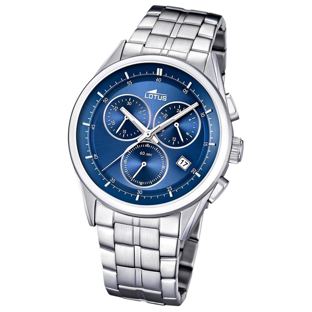 LOTUS Herrenuhr Chronograph blau Klassik Uhren Kollektion UL15847/6