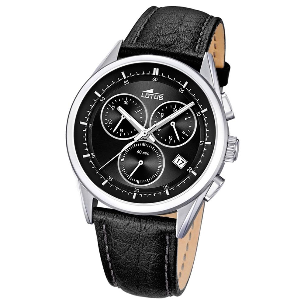 LOTUS Herrenuhr Chronograph schwarz Sport Uhren Kollektion UL15848/8