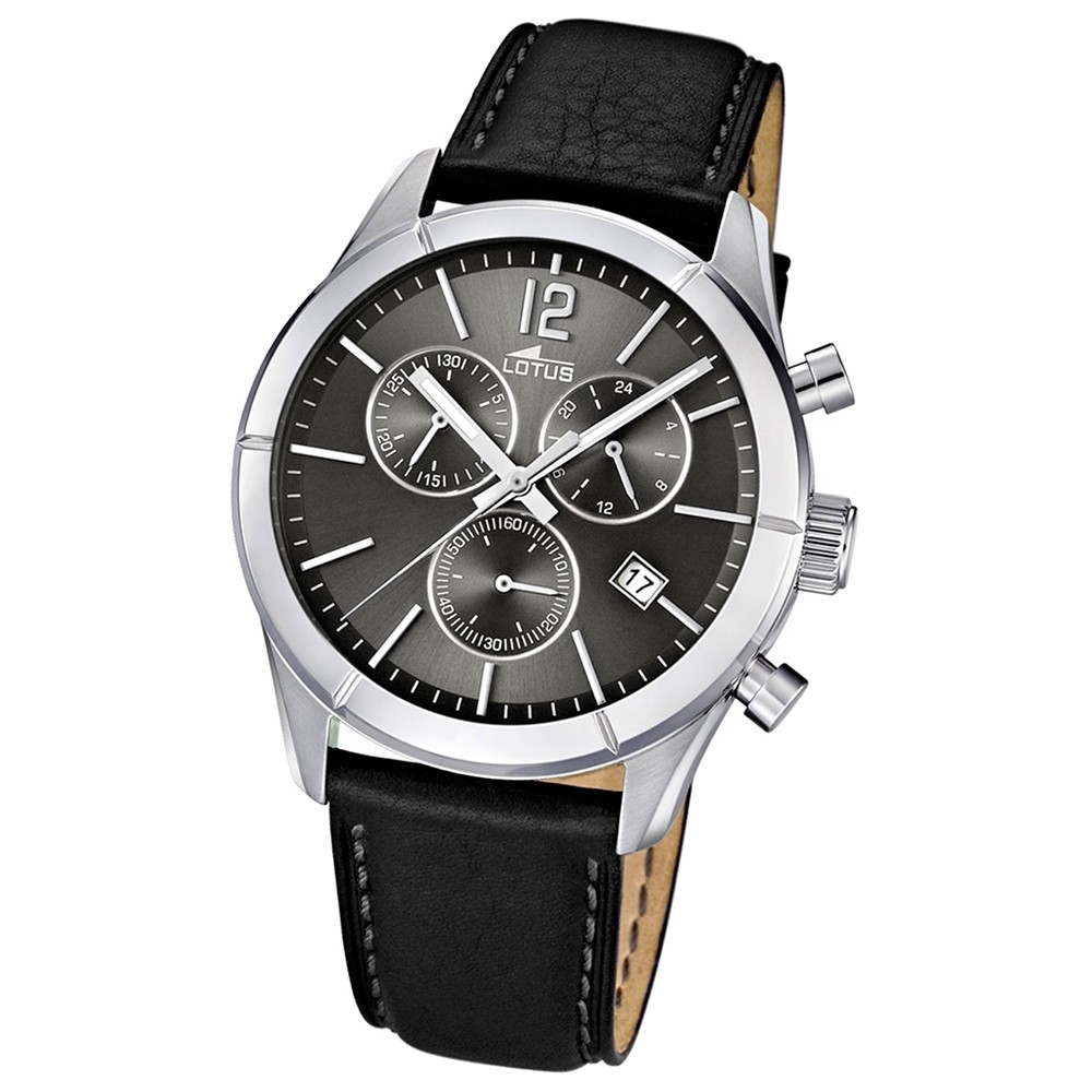 LOTUS Herrenuhr Chronograph schwarz Sport Uhren Kollektion UL15850/2