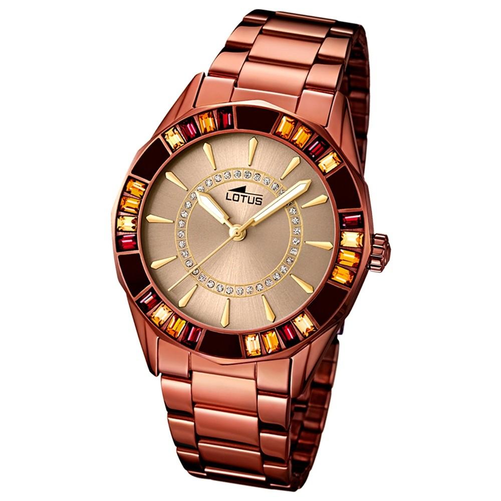LOTUS Damen-Armbanduhr Trendy analog Quarz Edelstahl UL15894/1