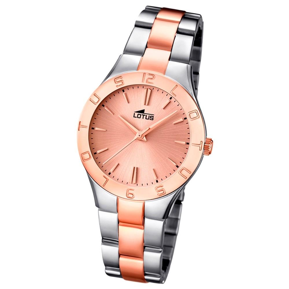 LOTUS Damen-Armbanduhr Trendy analog Quarz Edelstahl UL15896/2