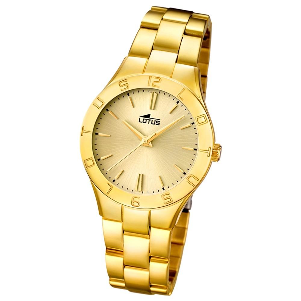 LOTUS Damen-Armbanduhr Trendy analog Quarz Edelstahl UL15897/2