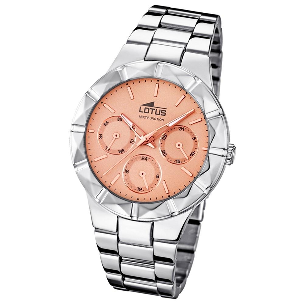 LOTUS Multifunktion Damenuhr rosegold Edelstahlband Trendy Uhren UL15919/2