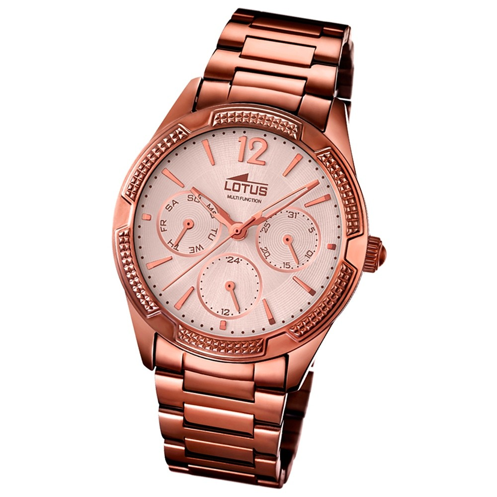 LOTUS Damen-Uhr - Multifunktion - Analog - Quarz - Edelstahl - UL15925/2