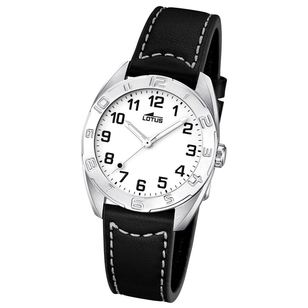 LOTUS Jugend-Armbanduhr Junior analog Quarz Leder UL15942/1