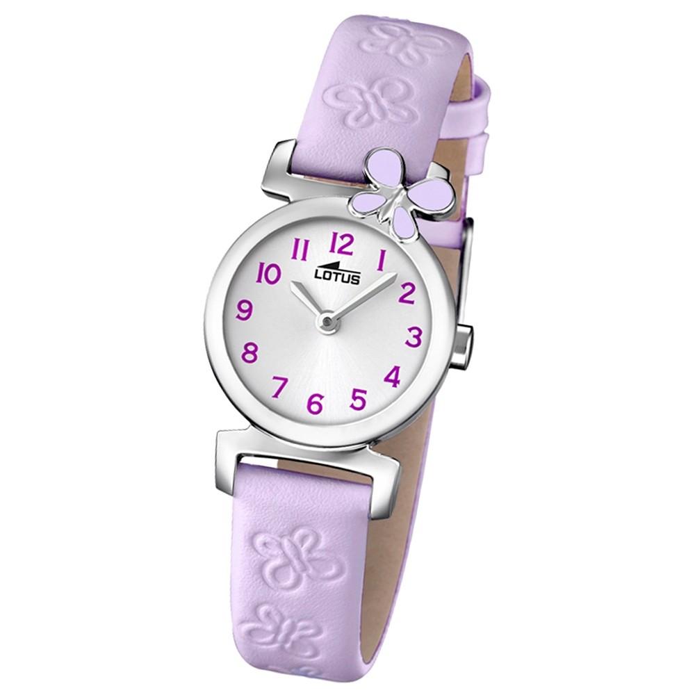 LOTUS Jugenduhr Comuniones Analog Quarz Uhr Leder Armband pink UL15948/3
