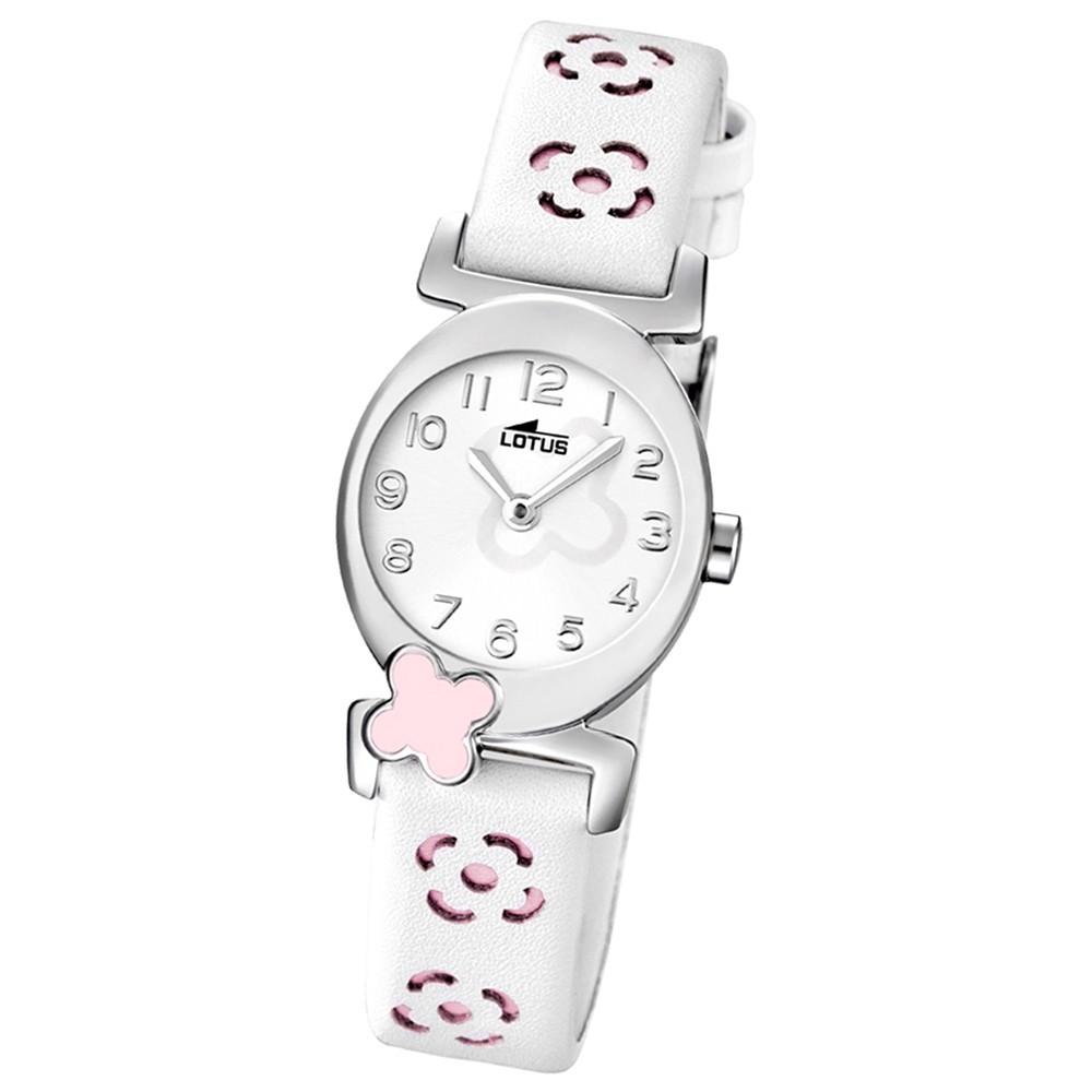 LOTUS Jugenduhr Comuniones Analog Quarz Uhr Leder Armband weis UL15949/2