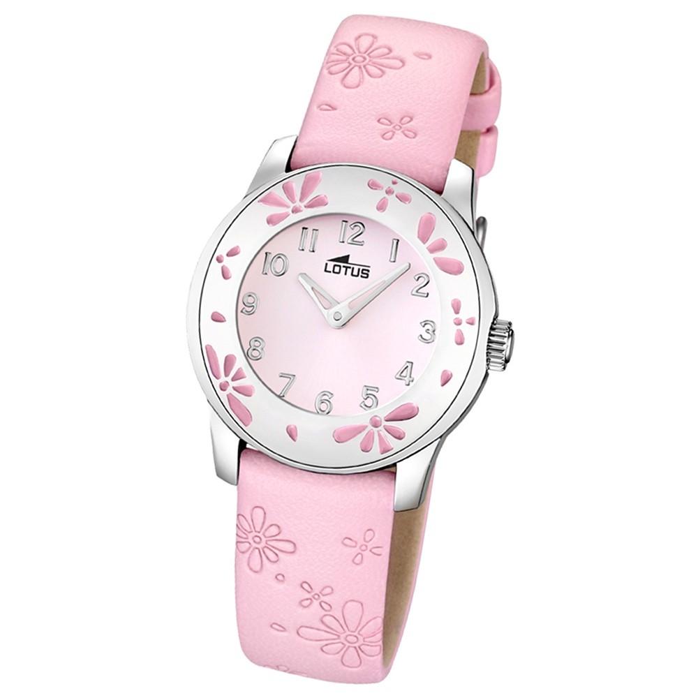 LOTUS Jugenduhr Comuniones Analog Quarz Uhr Leder Armband rosa UL15950/2