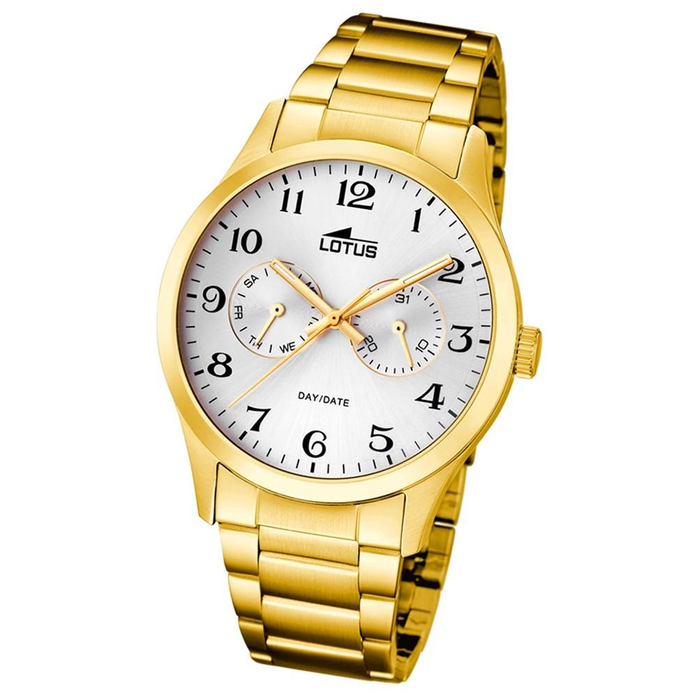 Lotus Herren-Armbanduhr Edelstahl gold 15955/4 Quarz Minimalist UL15955/4
