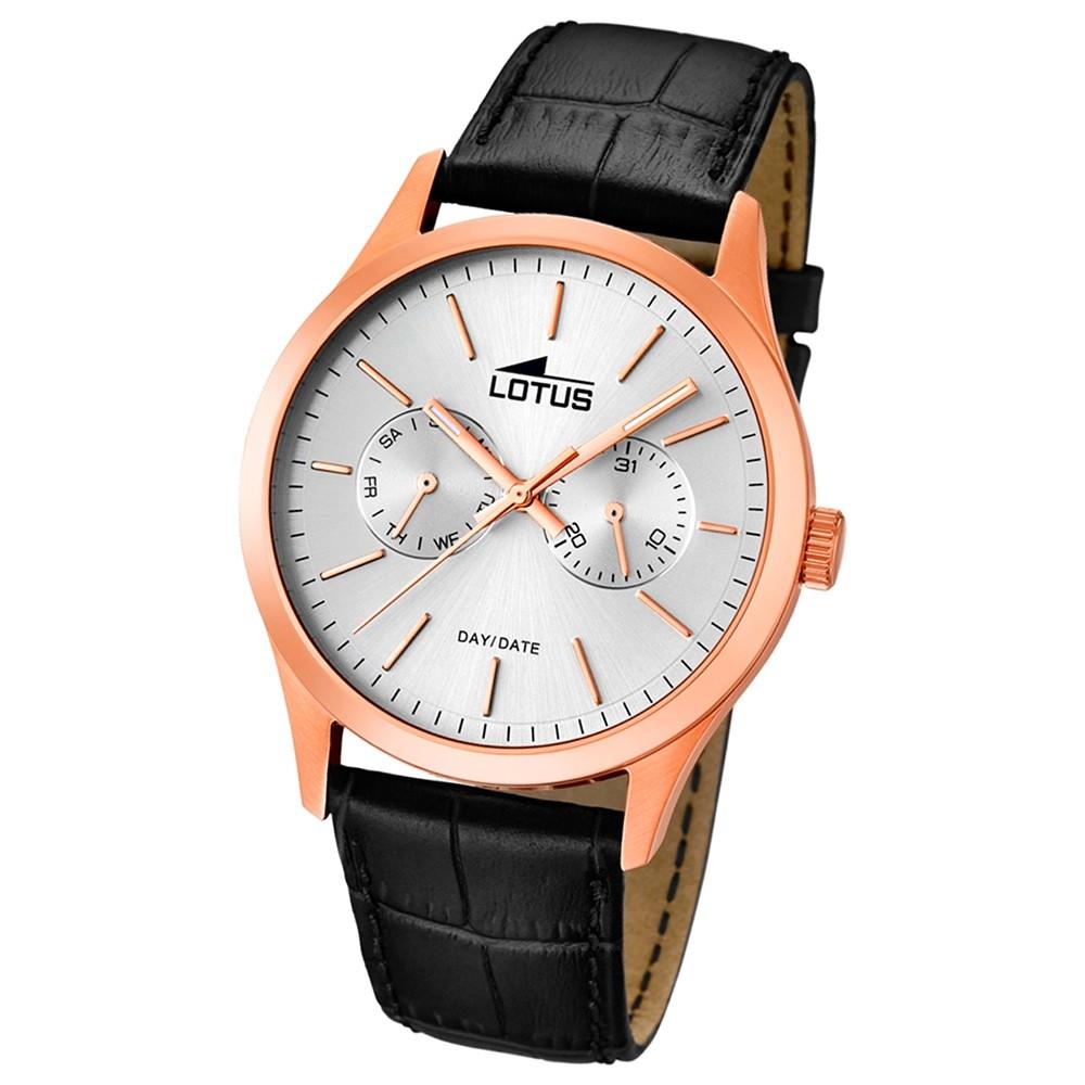 LOTUS Herren-Armbanduhr Minimalist analog Quarz Leder UL15958/1